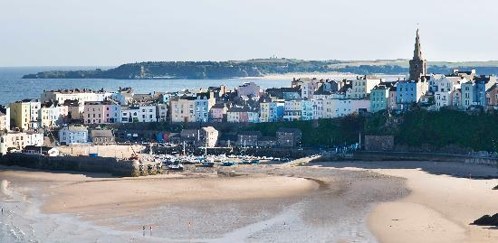 The Park Hotel Tenby : View of Tenby harbour from terrace of Park Hotel