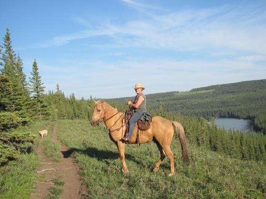 Old Entrance Trailrides: Mary on Pal July 2010