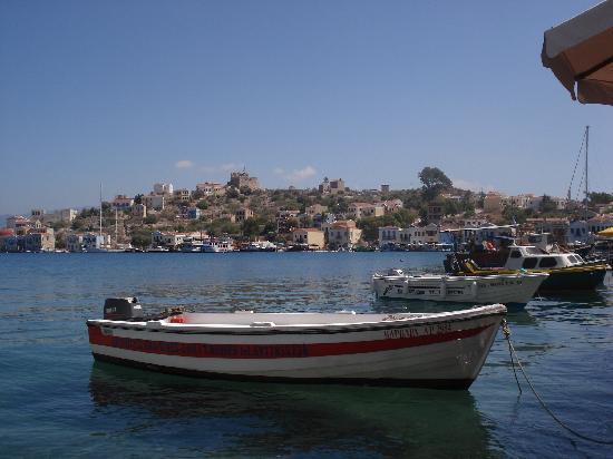 Kastellorizo, กรีซ: Hafeneinfahrt