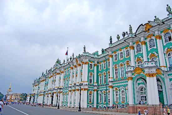 St. Petersburg, Russia: San Petersburgo: Hermitage, fachada principal