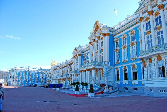 Szentpétervár, Oroszország: San Peterbsurgo: Palacio de Catalina, fachada principal