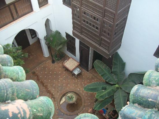 Riad Alwane: vue de la terrasse du haut