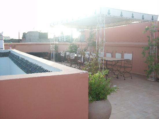Riad Alwane: terrasse du haut