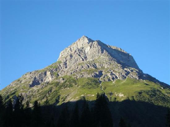 Lech, Austria: Blick von der wundervollen Terasse