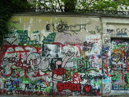 Paris, Frankreich: Serge Gainsbourg's house on the rue de Verneuil