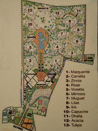 Marrakech Ryads Parc & Spa by Blue Sea : Plan de l'hôtel (ça peut être utile)