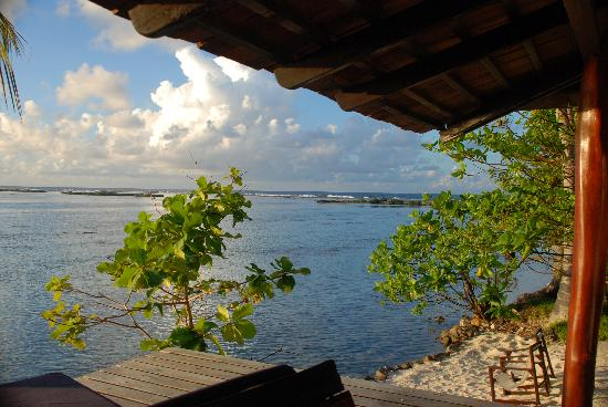 Vahine Island ile privée Resort & Spa : view from the deck