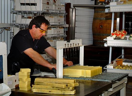 Vasse Virgin: The Soap maker cutting the soap