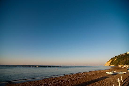 Tramonto a Gabicce Mare dalla spiaggia