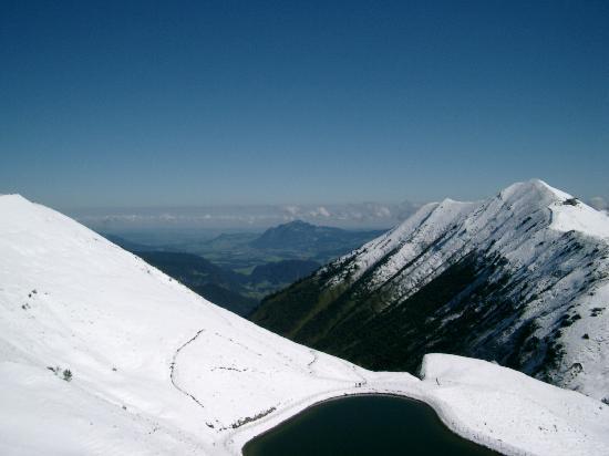 Hotel Erlebach: Bergsicht