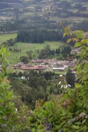 Hacienda Zuleta: Photo of the Hacienda whilst on rabbit trail
