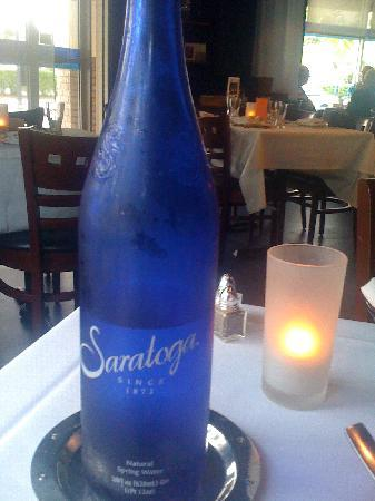 Leila Restaurant: Saratoga (yep! NY) Spring water