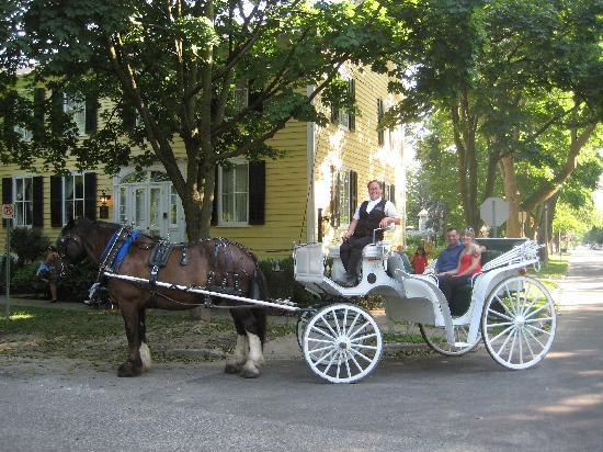 The Burke House: carriage ride p/u in front of Burke