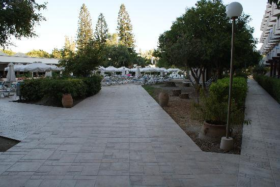 Ialyssos Bay Hotel Suneo Club: pool area and path to rooms