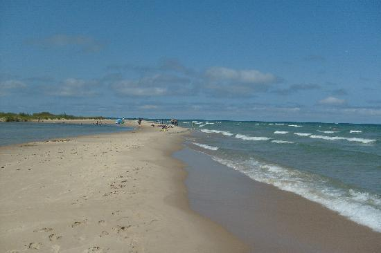 Platte River Campground: Few miles down the river you come out at Lake Michigan