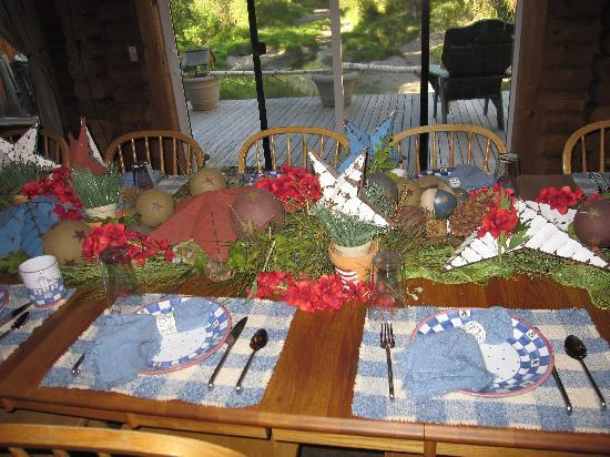 Run of the River: table setting