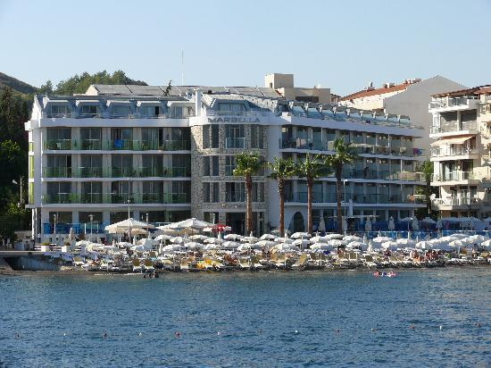 Hotel from see - Picture of Hotel Marbella, Marmaris - TripAdvisor