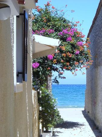 Side street view to the beach