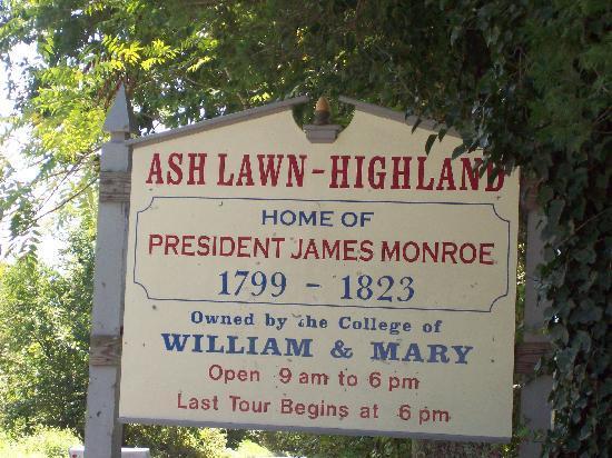 James Monroe's Highland: Ashlawn-Highland