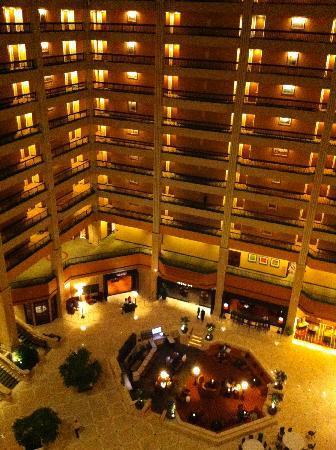 Renaissance Atlanta Waverly Hotel Convention Center Lobby Bei Nacht