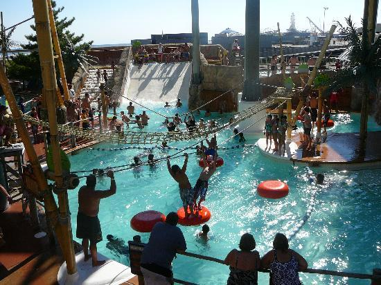 Wildwood, NJ: Slides & activity Pool at  Ocean Oasis Morey's Piers 2010