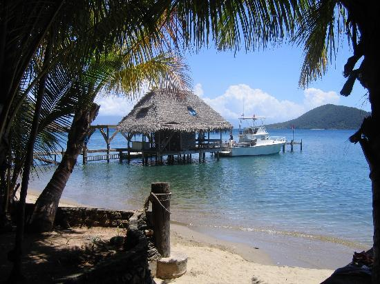 Bay Islands, Honduras: Resort View of Dock, Melissa, and Ocean