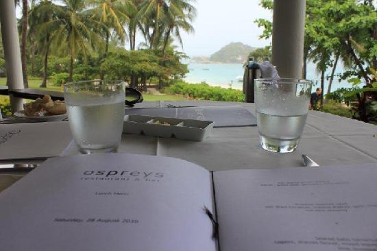 Lizard Island Resort: Our standard view from the Restaurant