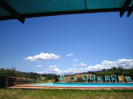 Le Mandrie di Ripalta: Blick vom Pool auf die Hügel im Umland
