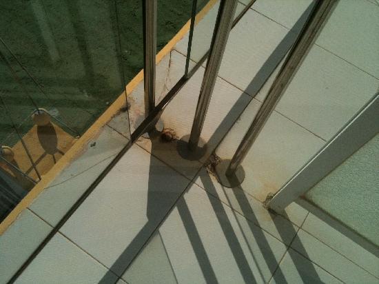 Hotel Neptuno: Balcony dirty and rusty
