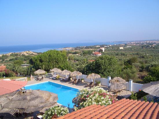 Messenia Region, اليونان: Viasta dal balcone della stanza