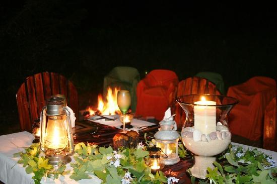 Thunzi Bush Lodge: Private Forest Clearing Dinner