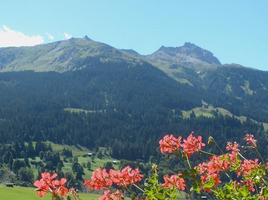 Klosters, Switzerland: Aussicht vom Balkon auf Gotschnagrat