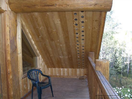 Logpile Lodge: our balcony