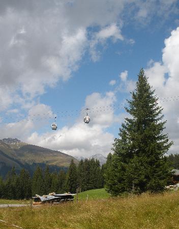 Klosters, Switzerland: Gondeln auf das Rinerhorn