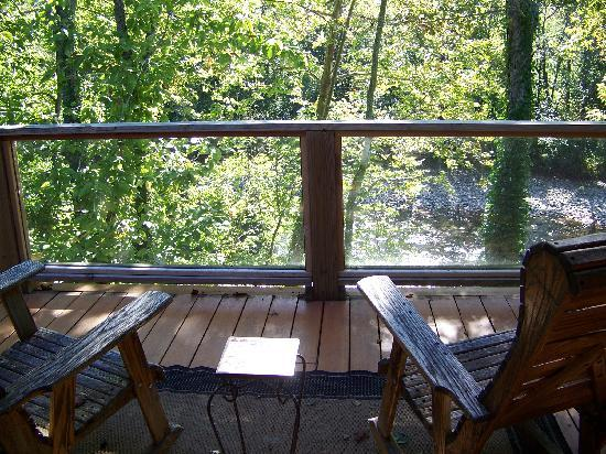 Abingdon, VA: Our own private deck and the view from our room