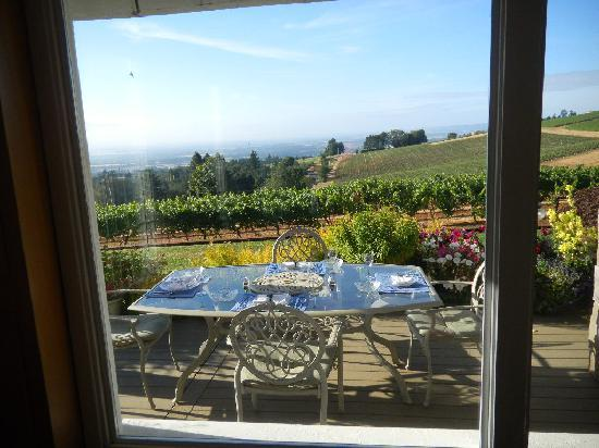 Wine Country Farm: Breakfast with a view