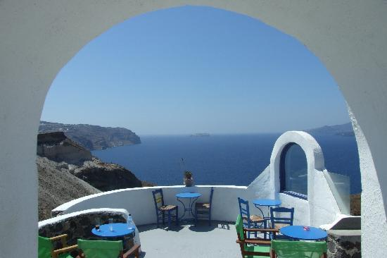 Santorini, Greece: Caldera view