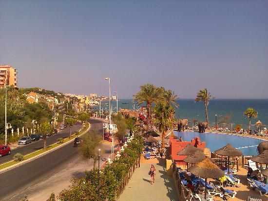 Holiday Village: view from walk over bridge of beach club