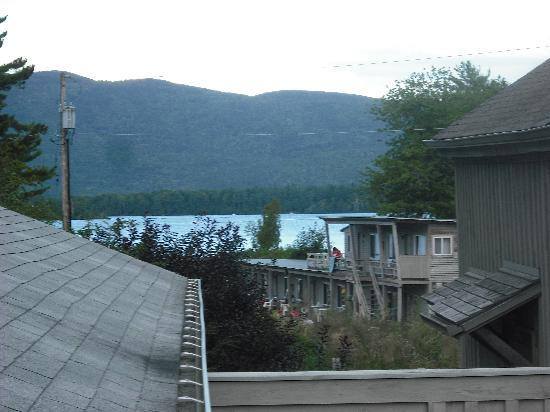 Golden Sands Resort on Lake George: View of lake from deck outside room