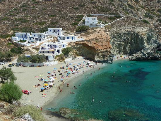 Folegandros, Grecia: La plage d'Agali