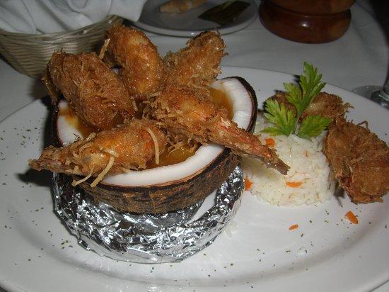 JC Capitan: Coconut Shrimp in a cococut!