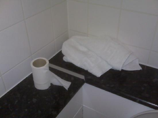 Upton Park Hotel: toilet roll and towel found when i walked in
