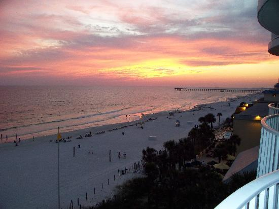Legacy By The Sea: Sunset from our beachfront balcony.