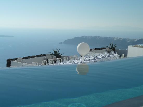 Grace Santorini Hotel: Die Hochzeitstafel-leider nicht unsere