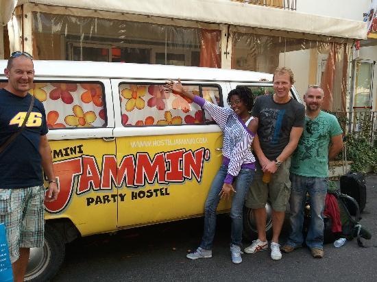 Hostel Jammin' Rimini : Anna and boys