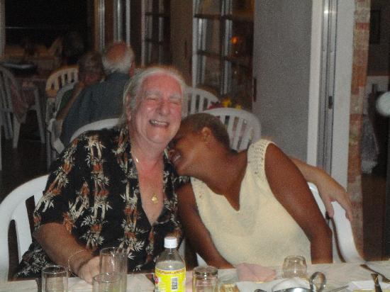 Micoud, St. Lucia: John and Ellen, our perfectly amiable hosts, came to dinner with us.