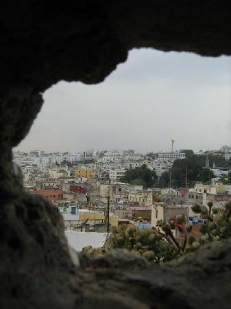 Tangier, Morocco: view from the holes in walls