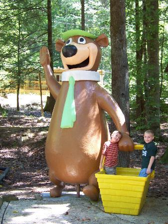 Yogi in the Smokies: Yogi statue at playground