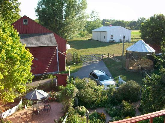 Olde Fogie Farm: View from The Hayloft room.