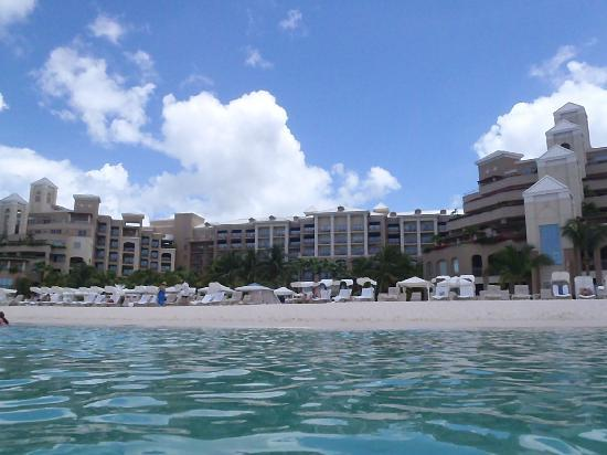 The Ritz-Carlton, Grand Cayman: View from ocean infront of Ritz